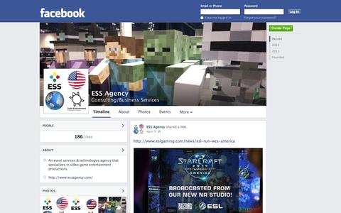 Screenshot of Facebook Page facebook.com - ESS Agency | Facebook - captured Oct. 22, 2014