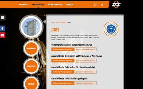 Screenshot of Jobs Page sks-germany.com - Jobs - SKS-Germany - captured Jan. 20, 2016