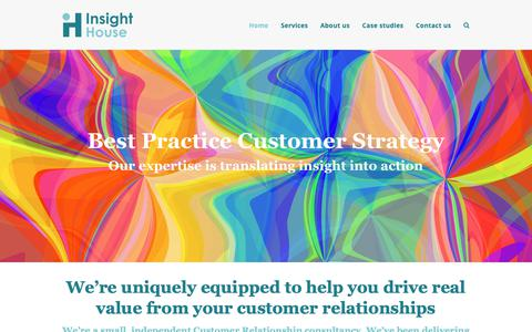 Screenshot of Home Page insighthouse.co.uk - Insight House - captured Oct. 18, 2018