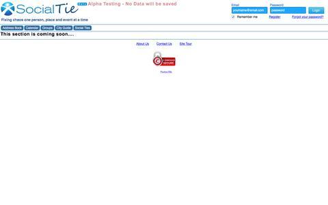 Screenshot of Privacy Page socialtie.com - SocailTie | Privacy Policy - captured Feb. 15, 2016