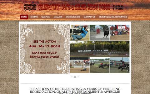 Screenshot of Home Page kikinorodeo.ca - Home - Kikino Celebration Days & Silver Birch Rodeo - captured Oct. 17, 2015
