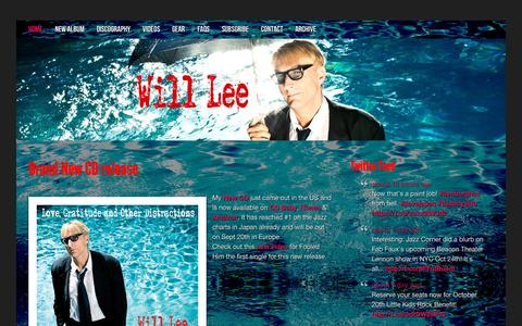 Screenshot of Home Page willlee.com - Will Lee | International Bassist | Just another WordPress site - captured Oct. 9, 2015