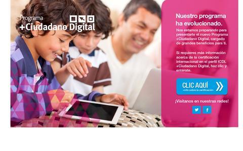 Screenshot of Home Page ciudadanodigital.org.co - +Ciudadano Digital - captured Sept. 18, 2015