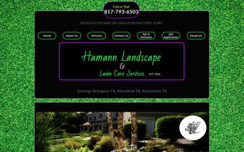 Screenshot of Home Page hamannlandscape.com - Hamann Landscape & Lawn Care Services - captured Sept. 26, 2018
