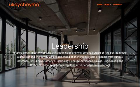 Screenshot of Team Page ukeycheyma.com - Ukeycheyma Leadership - captured July 26, 2018