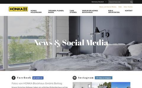 Screenshot of Press Page honka.com - News und Infos | HONKA - captured Nov. 27, 2018