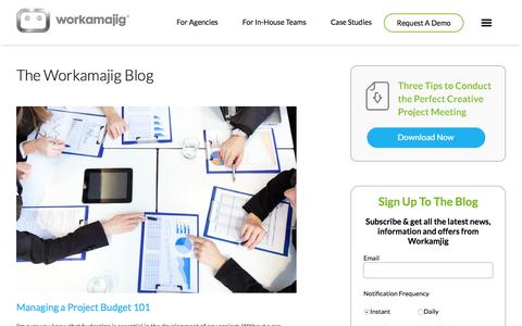 Workamajig Blog | Creative Project Management Software