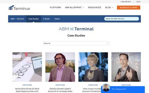 Screenshot of Case Studies Page terminus.com - Case Studies | Terminus - captured June 21, 2017