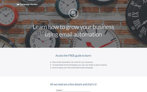 Screenshot of Landing Page campaignmonitor.com - Learn how to grow your business using email automation - captured Dec. 15, 2015