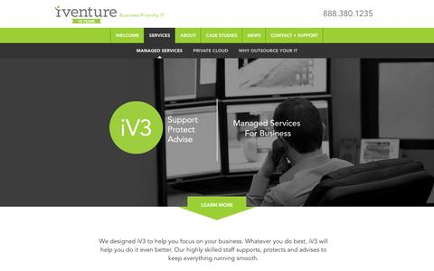 Screenshot of Services Page iventuresolutions.com - Orlando Managed IT Services | Jacksonville IT Management & Support - captured May 5, 2016