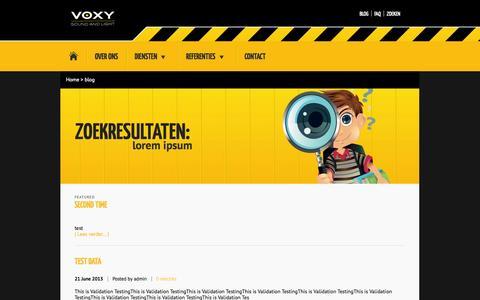 Screenshot of Blog voxy.be - Blog - voxy - captured Oct. 9, 2014