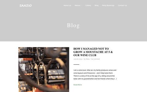 Screenshot of Blog sanziorestaurant.co.uk - Blog >> Sanzio restaurantSanzio restaurant - captured Feb. 4, 2016