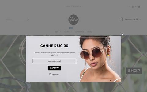 Screenshot of Home Page uigafas.com.br - UI! Gafas - captured Jan. 25, 2017