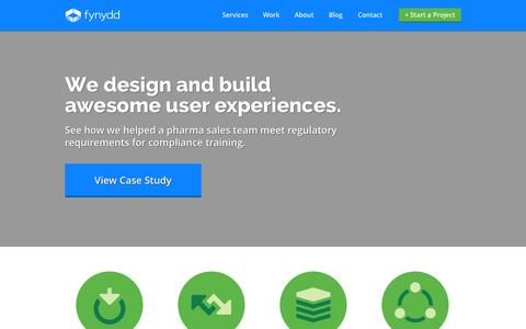 Screenshot of Home Page fynydd.com - We Design and Build Awesome User Experiences - captured Oct. 5, 2014