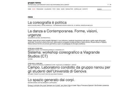 Screenshot of Press Page grupponanou.it - news | gruppo nanou - captured Dec. 8, 2018