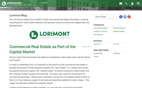 Screenshot of Blog lorimont.com - Blog Title - captured Sept. 30, 2018