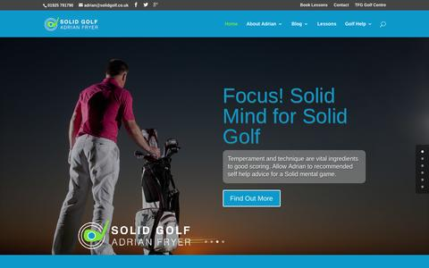 Screenshot of Home Page solidgolf.co.uk - Solid Golf with PGA Pro Adrian Fryer - captured Feb. 27, 2016