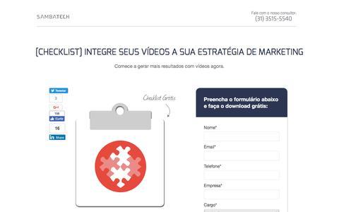 Screenshot of Landing Page sambatech.com - [Checklist] Integre seus Vídeos a sua Estratégia de Marketing - captured Aug. 19, 2016