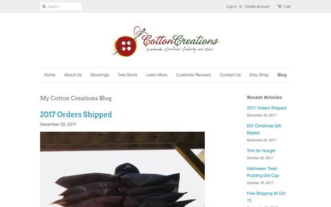 Screenshot of Blog mycottoncreations.com - Christmas Stockings by Cotton Creations – My Cotton Creations - captured June 30, 2018