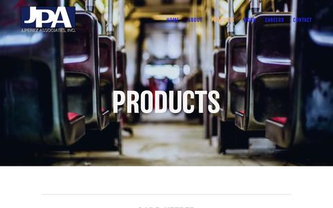 Screenshot of Products Page jperez.com - Products — J Perez Associates - captured Oct. 1, 2018