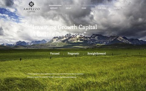 Screenshot of Home Page ampezzo.co.uk - Online Private Equity - Venture Capital Investor - captured Oct. 4, 2014