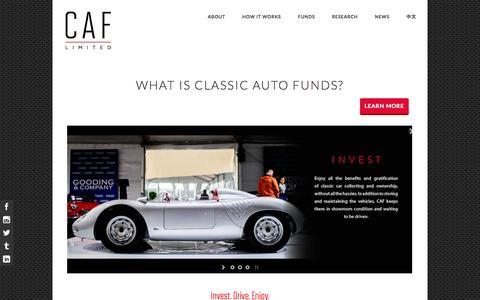 Screenshot of Home Page classicautofunds.com - Home - Classic Auto Funds Limited - captured Oct. 1, 2014