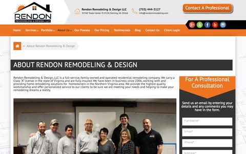 Screenshot of About Page rendonremodeling.com - About Rendon Remodeling & Design - Rendon Remodeling - captured Oct. 20, 2018
