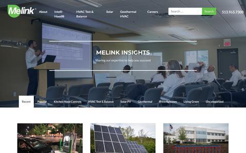 Screenshot of Blog melinkcorp.com - Melink Blog - Renewable Energy (Solar, Geothermal, HVAC) - captured Oct. 17, 2018