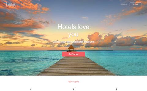 Screenshot of Home Page hotelied.com - Hotelied - captured Jan. 1, 2016