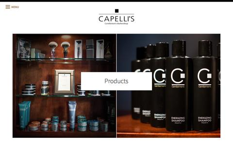 Screenshot of Products Page capellis.com - Products - We feature these premium grooming products - captured July 11, 2016