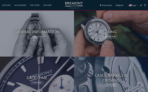 Screenshot of FAQ Page bremont.com - Frequently Asked Questions — Bremont Watches USA - captured Dec. 12, 2018