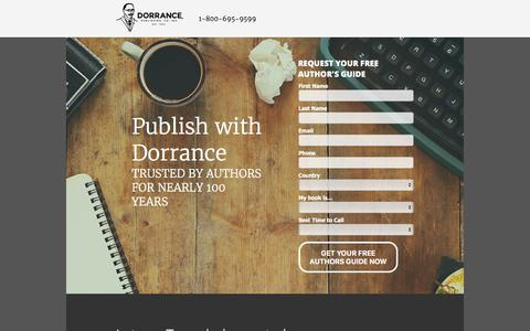 Screenshot of Landing Page dorrancepublishing.com - Publish with Dorrance - captured Sept. 29, 2017