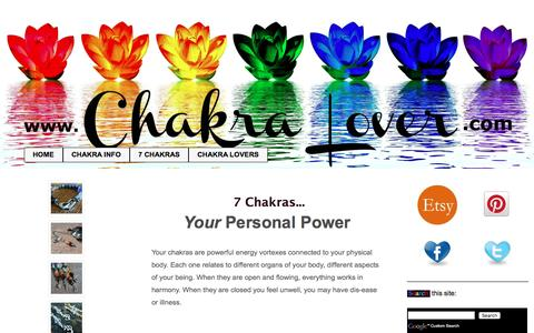 Screenshot of Home Page chakra-lover.com - 7 Chakras - How To Heal Yourself With These Powerful Energy Centers - captured Sept. 21, 2016
