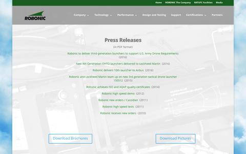 Screenshot of Press Page robonic.fi - Press Releases - Robonic - captured Dec. 6, 2016