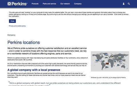 Screenshot of Locations Page perkins.com - Perkins locations - captured June 26, 2017