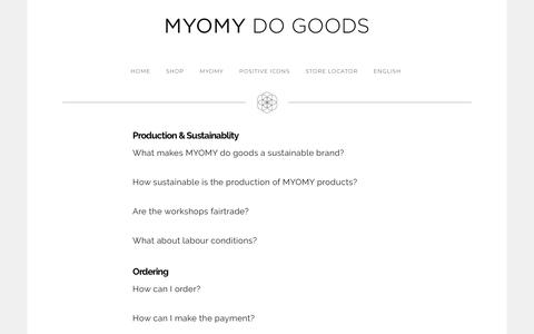 Screenshot of Support Page myomydogoods.com - Customer Service - MYOMY - captured Sept. 29, 2018