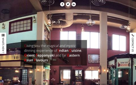 Screenshot of Home Page lanternsrestaurant.net - Lanterns Restaurant Bahrain - Indian Restaurant Bahrain, Bahrain fine dining - captured Jan. 25, 2016