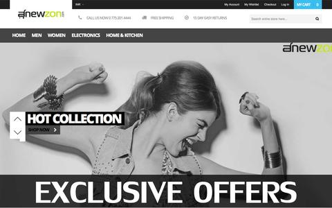 Screenshot of Home Page anewzon.com - Online Shopping in India for Mobiles, Cameras, Watches, Clothes, Home Appliances   Anewzon.com - captured Oct. 8, 2014