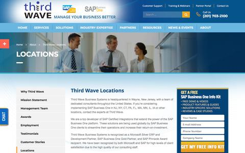 Screenshot of Locations Page twbs.com - Locations & Addresses Of SAP Business One Implementation Company | Third Wave - captured Nov. 17, 2017