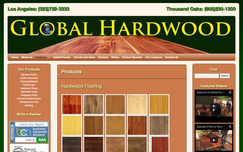 Screenshot of Products Page ghardwood.com - Our Products   Bamboo Hardwood Flooring   Engineered Hardwood Floors   Laminate Floors Los Angeles   Ghardwood.com   Global Hardwood & Supplies - captured Nov. 2, 2014