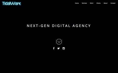 Screenshot of Home Page tidalware.com - TidalWare™ – Digital Design & Development Agency - captured Nov. 12, 2017