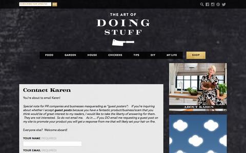 Screenshot of Contact Page theartofdoingstuff.com - Contact Karen | The Art of Doing Stuff - captured Jan. 29, 2016