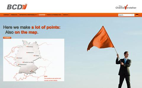 Screenshot of Locations Page bcd-chemie.de - Locations - captured Oct. 5, 2014