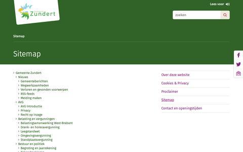 Screenshot of Site Map Page zundert.nl - Sitemap - gemeente Zundert - captured Sept. 27, 2018