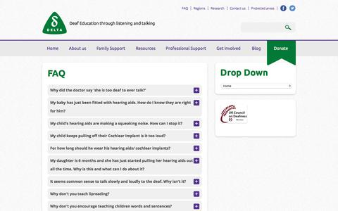 Screenshot of FAQ Page deafeducation.org.uk - FAQ - Deaf Education - captured Oct. 12, 2017