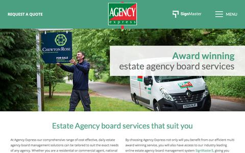 Screenshot of Services Page agencyexpress.co.uk - Estate Agency Board Services | Agency Express - captured Oct. 7, 2017