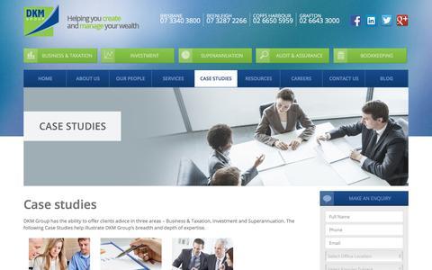 Screenshot of Case Studies Page dkm.com.au - Case studies » DKM Group - captured Oct. 11, 2017