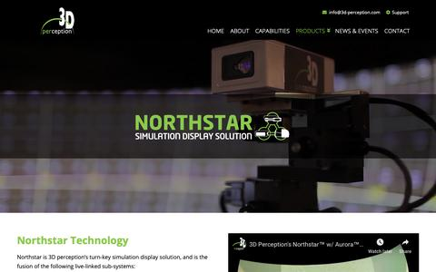 Screenshot of Products Page 3d-perception.com - Northstar Products | 3D perception - captured Dec. 10, 2018