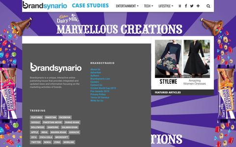 Screenshot of Case Studies Page brandsynario.com - Case Studies | Brandsynario - captured Jan. 16, 2016