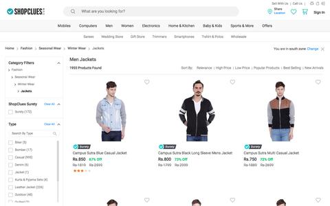 Winter Jackets for Men - Buy Mens Sleeveless Jackets Online @ Low Prices in India - ShopClues